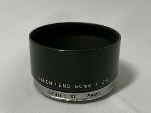 Canon Metal Lens Hood Series VI 34mm For 50mm f/2.8 Lens Leica Mount from Japan