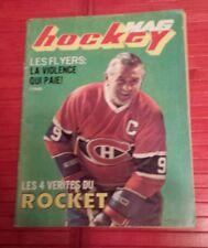 NHL hockey , Hockey Mag magazine Maurice Richard on the cover
