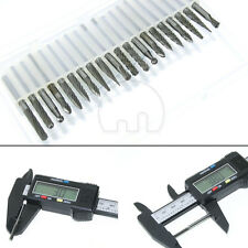 "20 Mix 3mm * 3mm 1/8"" Tungsten Head Carbide Burrs Dremel Tool Drill Carving Bits"