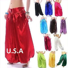Belly Dance Harem Satin Tribal Melodia Fusion Yoga Pants Dance Costume  Punk
