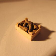 Artisan made parsnips in a crate ~ 24th scale ~ doll house miniature food