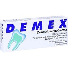 DEMEX Zahnschmerztabletten   10 st   PZN4346244