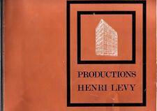 CATALOGUE DES MEUBLES DE STYLE   PRODUCTIONS HENRI LEVY     ANNEES 70 ?