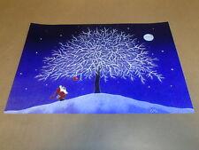 Scandinavian Swedish Tomte Gnome & Tree Print Poster #10 by Eva Melhuish