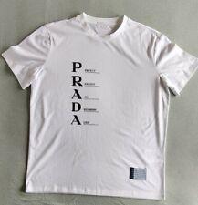 PRADA Size S White Cotton T Shirt