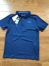 NWT ~ Boys Under Armour Performance Polo size large in navy