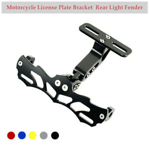1×Motorcycle License Plate Bracket Rear Light Fender Eliminator Aluminum  Alloy
