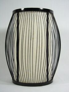 Mid Century Fine Japanese Bamboo & Washi Paper Hanging Lamp Shade or Asian Lamp