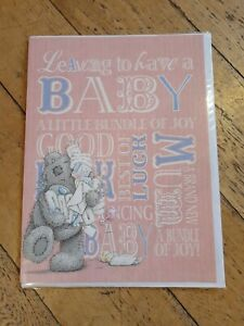 LARGE A4 having a baby Card - Tatty Ted - New With Envelope - Me to You