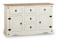 Sideboard Cabinet Cream Dresser Country Style Kitchen Cupboard Drawers Shelves