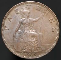 1935 | George V Farthing | Bronze | Coins | KM Coins