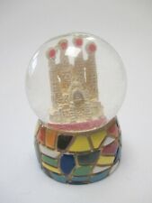 Barcelona Gaudi Sagrada Mosaic Snow Ball Spain Souvenir Snowglobe