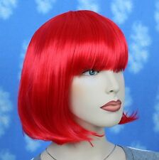 Short Straight Red Wig With Bang JDSW33