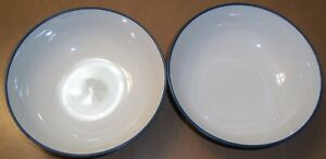 SET of 2  NORITAKE COLORWAVE BLUE  8484  SOUP / CEREAL BOWLS   7 in. great cond.