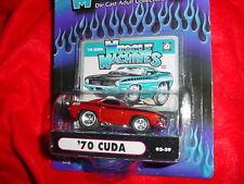 MUSCLE MACHINES '70 CUDA 02-29 RED/ORANGE MIP FREE USA SHIPPING