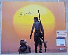 Diasy Ridley Star Wars Force Awakens 16x20 Signed Photo PSA Steiner Certified #1