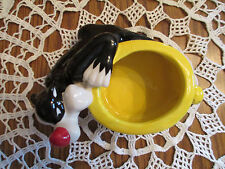 Warner Bros. - Looney Tunes Sylvester & Tweety Bird Ceramic Planter/Candy Dish