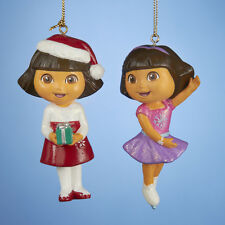DORA the Explorer Ornaments Set of 2-By Kurt Adler-Holiday!