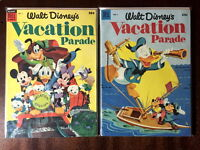 Vacation Parade (Dell Giant) Comic Book Lot, Golden Age, #'s 4 & 5, VF