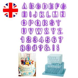 40Pcs Alphabet Letter and Number Fondant Cookie Cake Cutters Decorating Set V