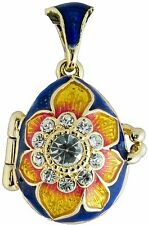 Faberge Egg Pendant / Charm with crystals 2.1 cm #0730