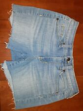 Universal Thread Denim Jeans Blue Cut Off Shorts Euc 0 25 Cotton Stretch