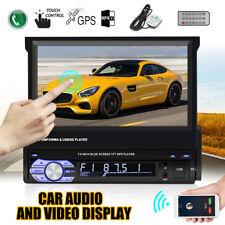 US 7'' HD 1080P GPS MP5 Player TFT LCD Bluetooth Car Stereo FM Radio Remote
