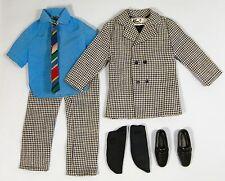 Vintage KEN #1434 BIG BUSINESS Houndstooth Suit Blue Shirt Tie Socks Shoes 1970