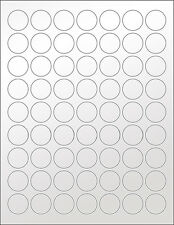6 SHEETS 1 INCH ROUND BLANK SILVER STICKERS LABELS SEAL METALLIC WEDDING~ CRAFTS