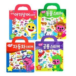 Pinkfong Baby Shark /Animal/Car/Dinosaur Bag Sticker Reusable Repeatable 4 Types