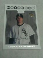 LANCE BROADWAY 2008 TOPPS ROOKIE CARD RC
