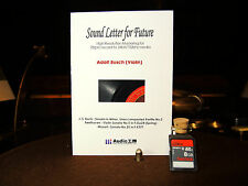 Adolf Busch Arts 78rpm record to 24bit /192Khz wav format SD MEMORY CARD