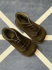 Bonpoint Baby Suede Lace Up Boots Shoes Size 20