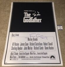 FRANCIS FORD COPPOLA SIGNED THE GODFATHER FULL SIZE FS MOVIE POSTER 27X40 BAS