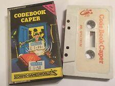 CODEBOOK CAPER SINCLAIR ZX SPECTRUM 48K TAPE Text Adventure GAME By SCORPIO
