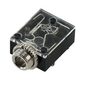 Klinkenbuchse Klinkeneinbaubuchse 3.5 mm Stereo Gehäuse + Gewindemutter