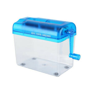 1Pcs Portable Mini Shredder Manual Paper Documents Cutting Tool for Home Office