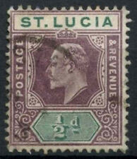 St. Lucia 1902-3 SG#58, 1/2d Dull Purple & Green KEVII Used #D15265