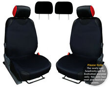 2x T-SHIRT CAR FRONT SEAT COVER PROTECTOR BLACK For Vauxhall Corsa A B C D E