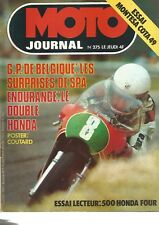 MOTO JOURNAL N°275 500 HONDA FOUR / MONTESA COTA 49 / GRAND PRIX DE BELGIQUE