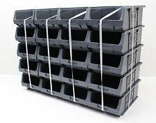 20 x Very Good Condition Plastic Parts Storage Bins Boxes - Grey Size 4