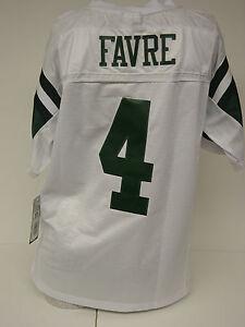 NEW Kids Youth REEBOK Brett FAVRE #4 NY JETS White Stitched NFL Football Jersey