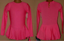NWT 7-8y CHILD Ice Skating Dress Pink Lycra Majorette Dance Costume Leotard