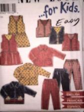 6582 Vintage NEW LOOK SEWING Pattern Girls Dress Vest Pants 1/2-4 FF OOP SEW