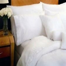 6 premium pillow cases covers standard bright white t180 percale hotel 20x30