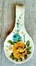 """The Pioneer Woman Rose Shadow 8.5""""  Spoon Rest Kitchen Spoon Rest Floral"""