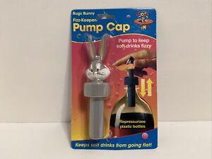 Looney Tunes Vintage 90s Bugs Bunny  Fizz Keeper Pump Cap Vintage Sealed Jokari