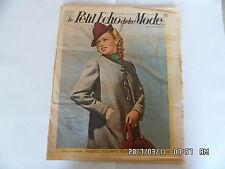 LE PETIT ECHO DE LA MODE N°33 13/08/1939 MODELES ELEGANTS SPORTS D'AUTOMNE   K39