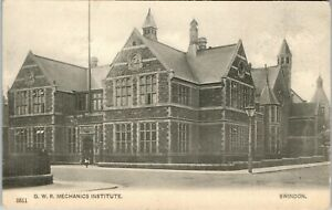 Postcard Swindon Wiltshire the GWR railway Mechanics Institute posted 1904