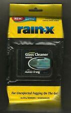 Rain X Glass Cleaner Wipes Anti-Fog Indoor 25 wipes unopened